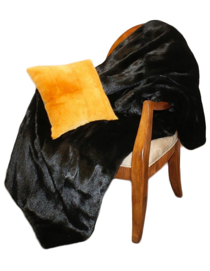 MINK FUR THROW, BLANKET - from THE REAL FUR DEAL & DAVID APPEL FURS new and pre-owned online fur store!