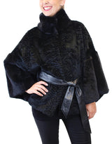 BLACK REX RABBIT FUR KIMONO JACKET - from THE REAL FUR DEAL & DAVID APPEL FURS new and pre-owned online fur store!