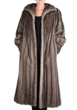PRE-OWNED MEDIUM BLUE IRIS MINK FUR COAT, NATURAL GRAY - from THE REAL FUR DEAL & DAVID APPEL FURS new and pre-owned online fur store!