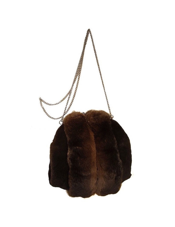MINK & CHINCHILLA FUR MUFF PURSE, BAG - from THE REAL FUR DEAL & DAVID APPEL FURS new and pre-owned online fur store!