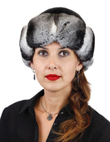 BLACK MINK FUR & CHINCHILLA FUR HAT - from THE REAL FUR DEAL & DAVID APPEL FURS new and pre-owned online fur store!