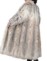 PRE-OWNED LARGE LONG CANADIAN LYNX FUR COAT - SILKY SOFT & COMFORTABLE! - from THE REAL FUR DEAL & DAVID APPEL FURS new and pre-owned online fur store!