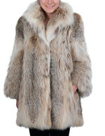 PRE-OWNED LARGE CANADIAN LYNX FUR STROLLER WITH BIG COLLAR! - from THE REAL FUR DEAL & DAVID APPEL FURS new and pre-owned online fur store!