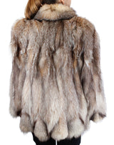 PRE-OWNED LARGE CRYSTAL FOX FUR JACKET - XLNT CONDITION, FUN DESIGN! - from THE REAL FUR DEAL & DAVID APPEL FURS new and pre-owned online fur store!