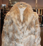 PRE-OWNED SMALL/MEDIUM BEAUTIFUL CANADIAN LYNX FUR COAT! - SOFT & LUXURIOUS! - from THE REAL FUR DEAL new and pre-owned online fur store!