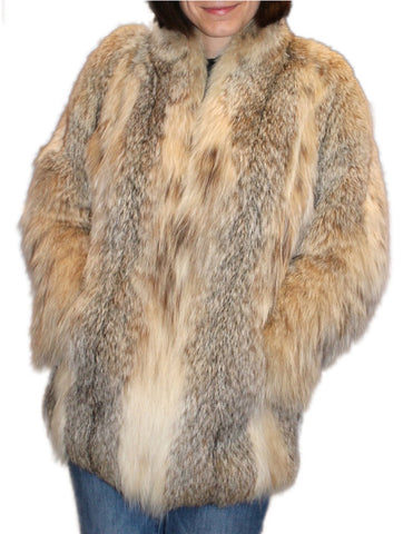 PRE-OWNED MEDIUM CANADIAN LYNX FUR JACKET! - from THE REAL FUR DEAL & DAVID APPEL FURS new and pre-owned online fur store!