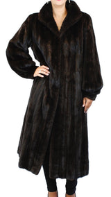 PRE-OWNED MEDIUM REVILLON SAKS FIFTH AVENUE LONG MINK FUR COAT, FULLY LET OUT! - from THE REAL FUR DEAL & DAVID APPEL FURS new and pre-owned online fur store!
