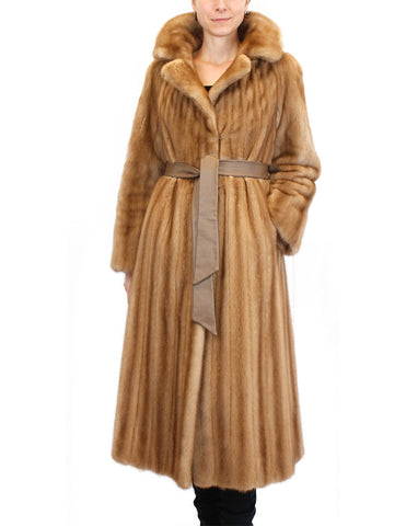 PRE-OWNED MEDIUM FEMALE AUTUMN HAZE MINK FUR COAT BY I. MAGNIN - from THE REAL FUR DEAL & DAVID APPEL FURS new and pre-owned online fur store!