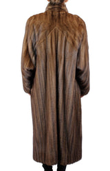 PRE-OWNED LARGE/XL <B>FENDI - I. MAGNIN</B> - LONG DIRECTIONAL LUNARAINE MINK FUR COAT! - from THE REAL FUR DEAL & DAVID APPEL FURS new and pre-owned online fur store!