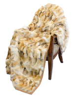 GOLDEN ISLAND FOX FUR & CASHMERE BLEND THROW - from THE REAL FUR DEAL & DAVID APPEL FURS new and pre-owned online fur store!