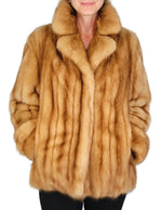 PRE-OWNED MEDIUM NATURAL GOLDEN RUSSIAN SABLE FUR JACKET - from THE REAL FUR DEAL & DAVID APPEL FURS new and pre-owned online fur store!