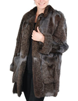 PRE-OWNED LARGE/XL UNIQUE GRAY-BLUE LYNX FUR JACKET, COAT - from THE REAL FUR DEAL & DAVID APPEL FURS new and pre-owned online fur store!