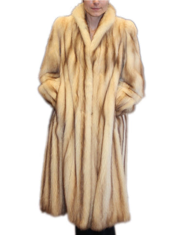 PRE-OWNED LONG MEDIUM GOLDEN FITCH FUR COAT! SAKS FIFTH AVENUE - BEAUTIFUL COLOR!! - from THE REAL FUR DEAL & DAVID APPEL FURS new and pre-owned online fur store!