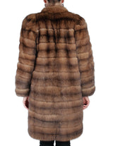PRE-OWNED SMALL HORIZONTAL NATURAL RUSSIAN BARGUZIN SABLE FUR COAT - from THE REAL FUR DEAL & DAVID APPEL FURS new and pre-owned online fur store!