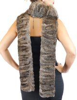 BARGUZIN RUSSIAN SABLE FUR EXTRA LONG RAW EDGE SCARF - from THE REAL FUR DEAL & DAVID APPEL FURS new and pre-owned online fur store!