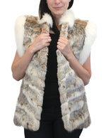 PRE-OWNED SMALL/MEDIUM LYNX & SHADOW FOX FUR VEST! SOFT & COZY! - from THE REAL FUR DEAL & DAVID APPEL FURS new and pre-owned online fur store!