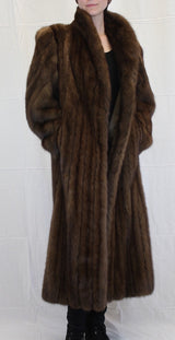 PRE-OWNED MEDIUM/LARGE LONG CANADIAN SABLE FUR COAT - FULLY LET OUT - from THE REAL FUR DEAL & DAVID APPEL FURS new and pre-owned online fur store!