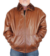 MEN'S PRE-OWNED XL <b>REVERSIBLE</b> WHISKY MINK FUR & LEATHER JACKET - from THE REAL FUR DEAL & DAVID APPEL FURS new and pre-owned online fur store!