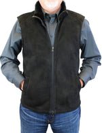 <b>DI BELLO</b> - MEN'S BLACK MERINO SHEARLING VEST - from THE REAL FUR DEAL & DAVID APPEL FURS new and pre-owned online fur store!