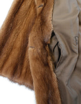 PRE-OWNED NATURAL BROWN WILD TYPE MINK FUR COAT, FULLY LET OUT - from THE REAL FUR DEAL & DAVID APPEL FURS new and pre-owned online fur store!