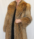 PRE-OWNED LARGE FINNISH RACCOON FUR COAT! FEATHERED, LIGHTWEIGHT DESIGN! - from THE REAL FUR DEAL new and pre-owned online fur store!