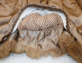 PRE-OWNED LARGE FINNISH RACCOON FUR COAT! FEATHERED, LIGHTWEIGHT DESIGN! - from THE REAL FUR DEAL & DAVID APPEL FURS new and pre-owned online fur store!