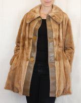 PRE-OWNED MEDIUM AUTUMN HAZE MINK FUR & LEATHER JACKET - from THE REAL FUR DEAL & DAVID APPEL FURS new and pre-owned online fur store!