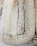 PRE-OWNED MEDIUM BLUE FOX FUR JACKET! SOFT THICK FUR! DIAGONAL SLEEVES! - from THE REAL FUR DEAL & DAVID APPEL FURS new and pre-owned online fur store!