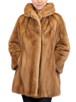 PRE-OWNED MEDIUM/LARGE AUTUMN HAZE MINK FUR COAT, STROLLER W/ BEAUTIFUL COLLAR! - from THE REAL FUR DEAL & DAVID APPEL FURS new and pre-owned online fur store!