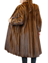 PRE-OWNED MEDIUM ROBINSON'S BROWN LUNARAINE MINK FUR COAT - from THE REAL FUR DEAL & DAVID APPEL FURS new and pre-owned online fur store!