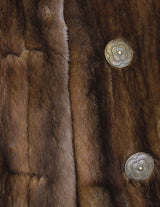 PRE-OWNED LARGE BROWN LUNARAINE MINK FUR LONG COAT - FEMALE, FULLY LET OUT - from THE REAL FUR DEAL & DAVID APPEL FURS new and pre-owned online fur store!