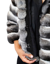HORIZONTAL NATURAL CHINCHILLA FUR JACKET - from THE REAL FUR DEAL & DAVID APPEL FURS new and pre-owned online fur store!