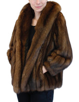 PRE-OWNED LARGE NATURAL RUSSIAN BARGUZIN SABLE FUR JACKET, COAT - from THE REAL FUR DEAL & DAVID APPEL FURS new and pre-owned online fur store!