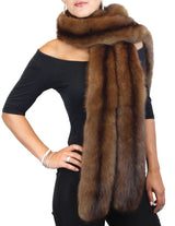 PRE-OWNED I. MAGNIN LONG NATURAL RUSSIAN SABLE FUR DOUBLE BOA! SHAWL, WRAP, SCARF - from THE REAL FUR DEAL & DAVID APPEL FURS new and pre-owned online fur store!
