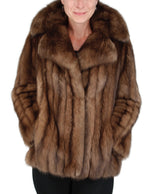 PRE-OWNED LARGE NATURAL RUSSIAN SABLE FUR JACKET - from THE REAL FUR DEAL & DAVID APPEL FURS new and pre-owned online fur store!