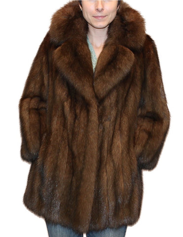 PRE-OWNED MEDIUM NATURAL RUSSIAN SABLE FUR STROLLER, JACKET - from THE REAL FUR DEAL & DAVID APPEL FURS new and pre-owned online fur store!