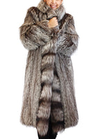 PRE-OWNED LARGE/XL OSCAR DE LA RENTA LONG CANADIAN SILVER FOX FUR COAT - from THE REAL FUR DEAL & DAVID APPEL FURS new and pre-owned online fur store!