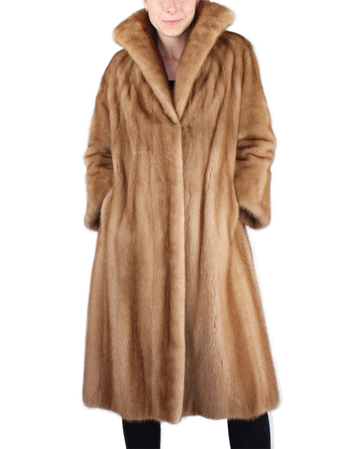 PRE-OWNED MEDIUM LONG PASTEL MINK FUR COAT - from THE REAL FUR DEAL & DAVID APPEL FURS new and pre-owned online fur store!