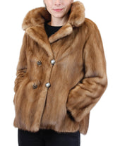PRE-OWNED MEDIUM CUTE VINTAGE PASTEL MINK FUR DOUBLE-BREASTED JACKET! - from THE REAL FUR DEAL & DAVID APPEL FURS new and pre-owned online fur store!
