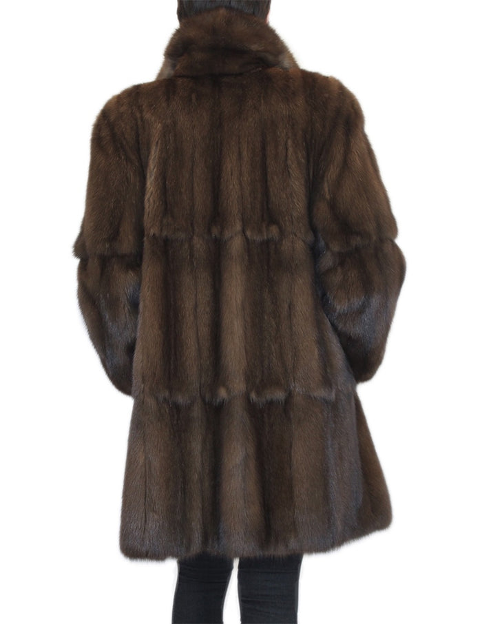 MEDIUM PLEATED NATURAL RUSSIAN SABLE FUR COAT - from THE REAL FUR DEAL & DAVID APPEL FURS new and pre-owned online fur store!