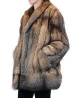 PRE-OWNED LARGE/XL CRYSTAL FOX FUR JACKET, LIKE NEW CONDITION! THICK FUR! - from THE REAL FUR DEAL & DAVID APPEL FURS new and pre-owned online fur store!