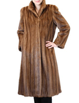 PRE-OWNED LARGE BROWN LUNARAINE MINK FUR COAT, SOFT SUPPLE & FULLY LET OUT - from THE REAL FUR DEAL & DAVID APPEL FURS new and pre-owned online fur store!
