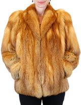 PRE-OWNED LARGE RED FOX FUR JACKET, LIKE NEW CONDITION! COZY & COMFORTABLE - from THE REAL FUR DEAL & DAVID APPEL FURS new and pre-owned online fur store!