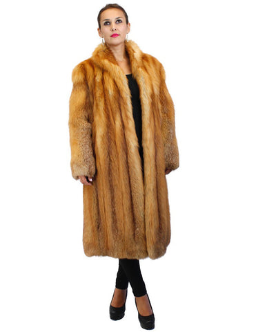 PRE-OWNED MEDIUM FOX FUR ⅞ COAT! SOFT & WARM!