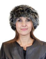 GRAY MULTICOLOR KNITTED REX RABBIT FUR & FOX FUR POM-POM BEANIE, HAT - from THE REAL FUR DEAL & DAVID APPEL FURS new and pre-owned online fur store!
