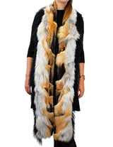 LONG RED FOX AND MONGOLIAN LAMB FUR SCARF - from THE REAL FUR DEAL & DAVID APPEL FURS new and pre-owned online fur store!
