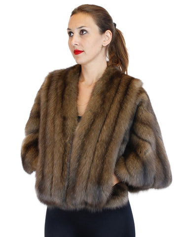 NATURAL RUSSIAN BARGUZIN SABLE FUR CAPE/STOLE - from THE REAL FUR DEAL & DAVID APPEL FURS new and pre-owned online fur store!