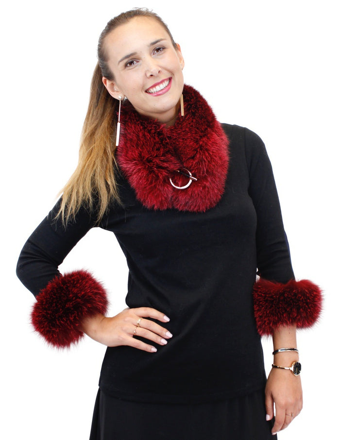 FOX FUR COLLAR / FOX FUR SLAP-ON CUFFS - CHOOSE YOUR COLOR! - from THE REAL FUR DEAL & DAVID APPEL FURS new and pre-owned online fur store!