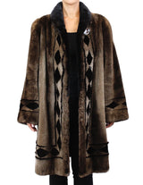 PRE-OWNED MEDIUM/LARGE SHEARED BEAVER FUR COAT W/ REMOVABLE HOOD! HOODED JACKET - from THE REAL FUR DEAL & DAVID APPEL FURS new and pre-owned online fur store!