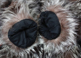 PRE-OWNED SMALL VINTAGE SILVER FOX FUR JACKET WITH HORIZONTAL SLEEVES - from THE REAL FUR DEAL & DAVID APPEL FURS new and pre-owned online fur store!